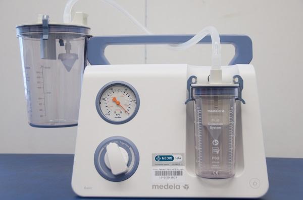 Uitzuigpomp Medela basic uitzuigen sputum vast