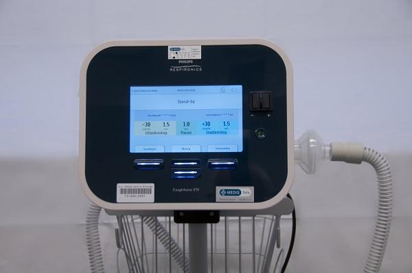 Hoestmachine E-70 cough assist philips hoest sputum filter